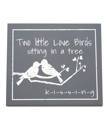 'Two Little Love Birds' Wall Art