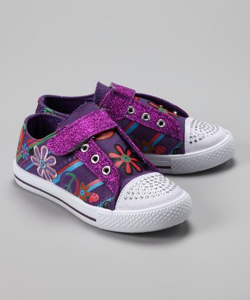 Purple Graffiti Sneaker