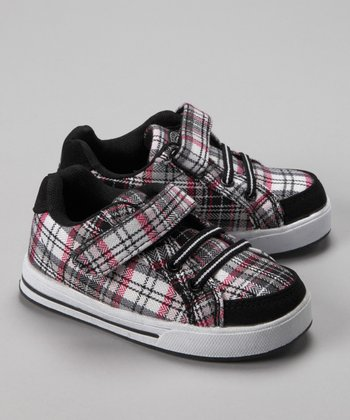 Black & Pink Plaid Sneaker