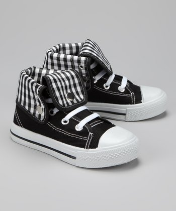 Twin Cities Shoe Co. Black & White Gingham Hi-Top Sneaker
