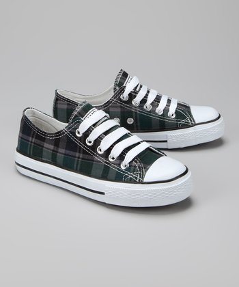 Twin Cities Shoe Co. Gray & Black Plaid Sneaker