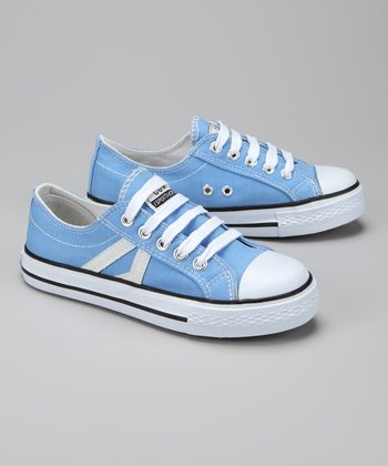 Twin Cities Shoe Co. Light Blue Stripe Sneaker