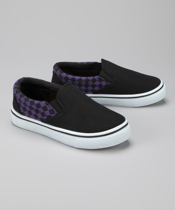 Twin Cities Shoe Co. Black & Purple Sneaker