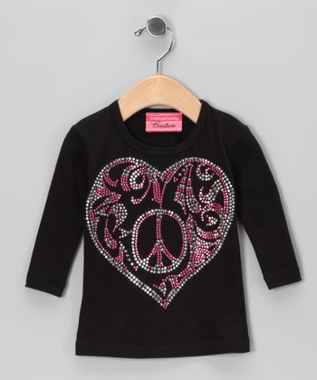 Black Heart Tee - Toddler & Girls
