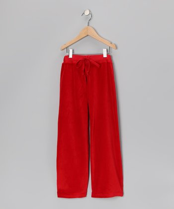 Red Velour Pants - Infant & Girls