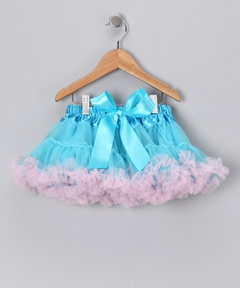 Turquoise & Pink Bow Pettiskirt - Infant, Toddler & Girls