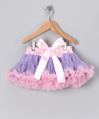 Lavender & Pink Bow Pettiskirt - Infant, Toddler & Girls