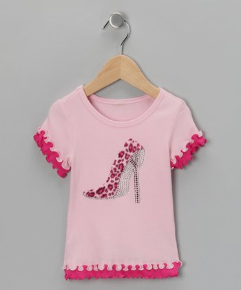 Hot Pink Leopard Bling Tee - Infant & Toddler