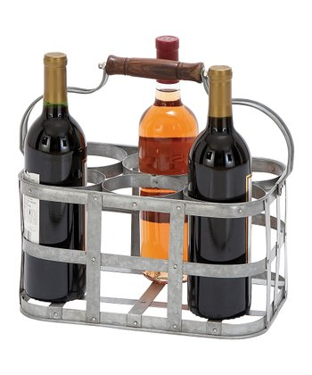 Metal Six-Bottle Wine Basket