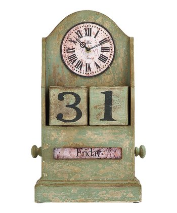 Wood Time & Date Clock