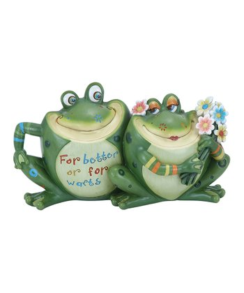 Frog 'For Better Or For Warts' Garden Statue