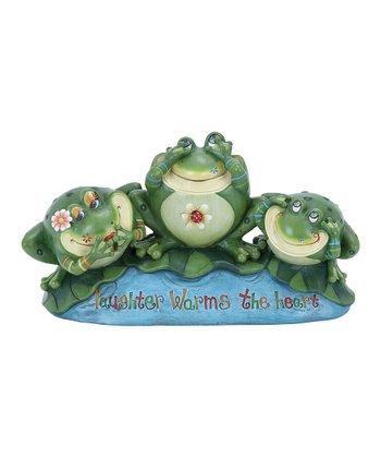 Frog 'Laughter' Garden Statue