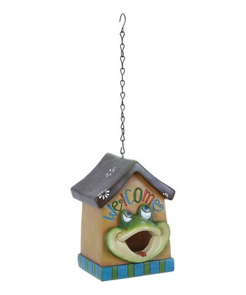 Frog 'Welcome' Birdhouse