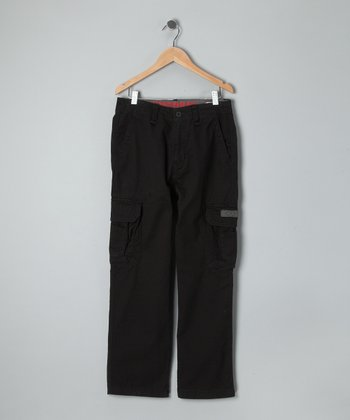 Black Survivor Cargo Pants - Boys