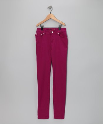 Purple Straight-Leg Jeans