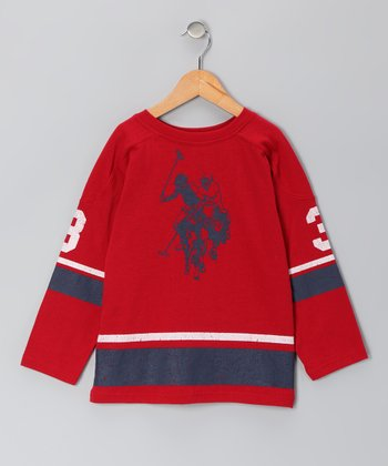 Red U.S. Polo Long-Sleeve Tee - Boys