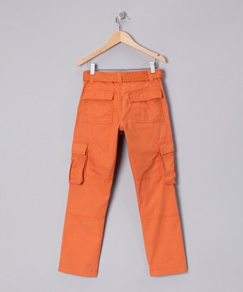 Orange Cargo Pants - Boys