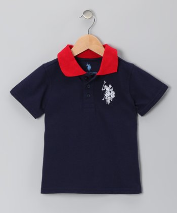 Navy Blue Polo - Boys