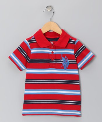 Tango Red Stripe Polo - Boys
