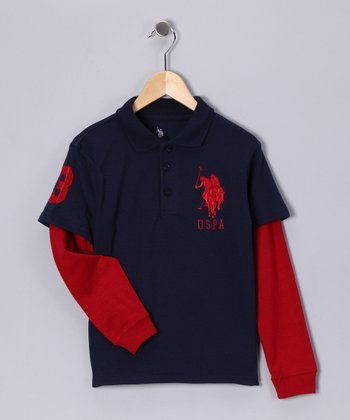 Navy Yard Layered Polo - Boys