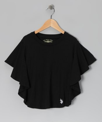 Black Dolman Top - Girls
