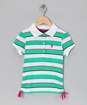 Emerald Stripe USPA Polo