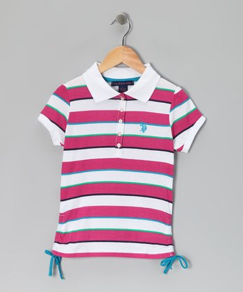 Pink Stripe USPA Polo