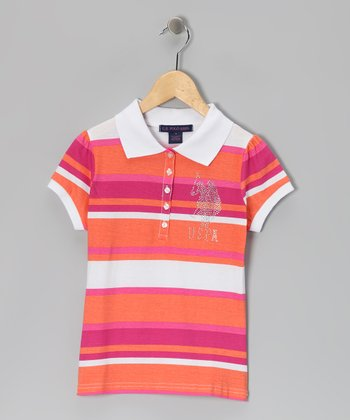 Poppy Stripe USPA Polo