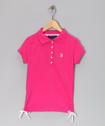 Pink & White USPA Polo