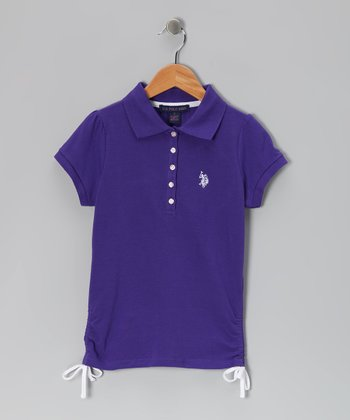 Purple & White USPA Polo