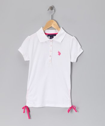White & Pink USPA Polo