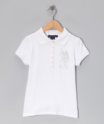 White USPA Polo