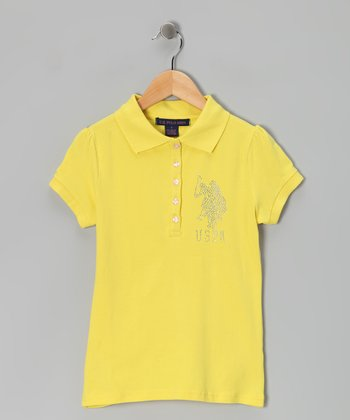 Light Yellow USPA Polo
