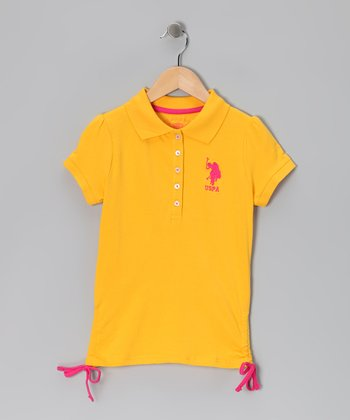Yellow & Pink USPA Polo