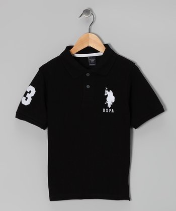 Black & White Polo - Boys