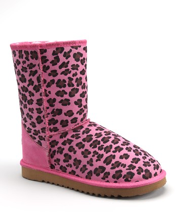 Pink Leopard Ally Low Boot - Women