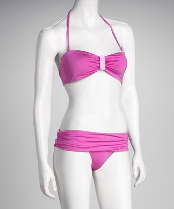 R Collection Raspberry Bandeau Bikini