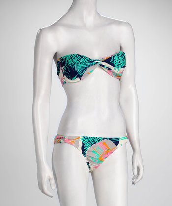 R Collection Seaglass Bandeau Bikini
