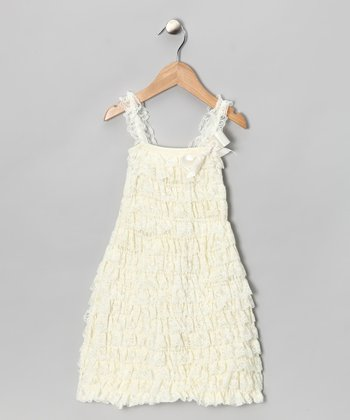 Ivory Lace Ruffle Dress - Infant & Toddler