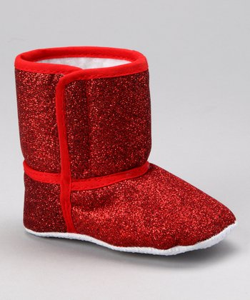 Red Sparkle Booties