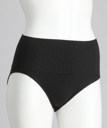 Black Seamless Shaper High-Waisted Briefs