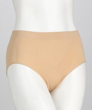 Nude Seamless Shaper High-Cut Briefs