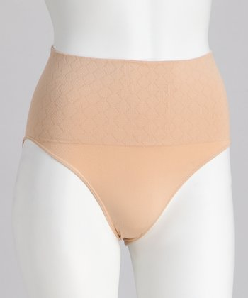 Nude Seamless Shaper High-Waist Briefs