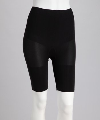 Black Seamless Shaper Shorts
