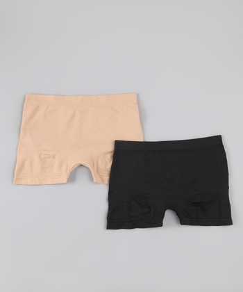 Black & Nude Everyday Control Boyshorts Set