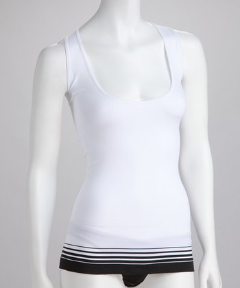 White Seamless Shaper Tank