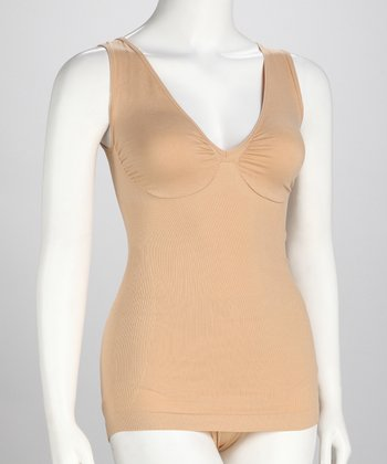 Nude Comfort Molded Bra Low V-Neck Camisole
