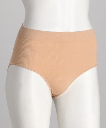 Nude Ribbed Seamless Briefs