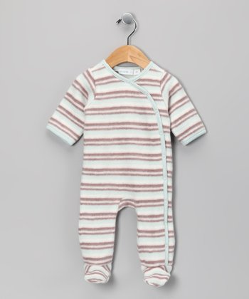 Misty Blue Stripe Organic Footie - Infant
