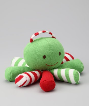 Green & Red Organic Scraptopus Plush Toy
